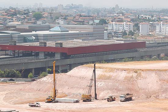 Obras do futuro estádio do Corinthians; clique na foto e veja galeria