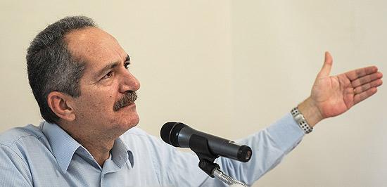 Aldo Rebelo, ministro do Esporte, em entrevista coletiva