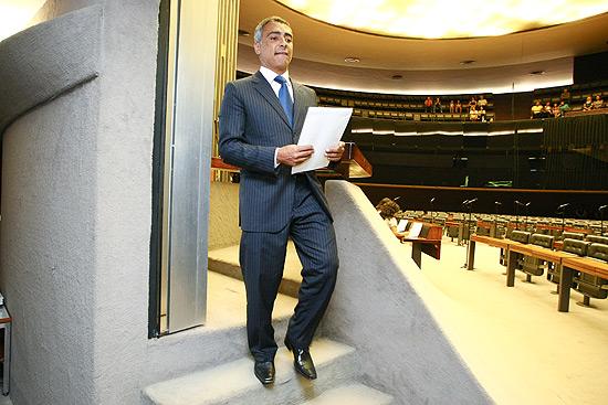Romário no plenário da Câmara dos Deputados, em Brasília