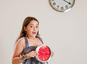 Ana Luiza Cavalini, 10, tenta não desregular tanto o relógio nas férias