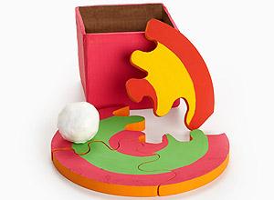 Crédito: Divulgação Legenda: Brinquedos vencedores de projeto Criar para Brincar - Festival de Artesanato Lúdico