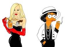 Donatella Versace e Coco Chanel, em ilustração do artista italiano Alexsandro Palombo.