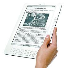 Aparelho Kindle Deluxe é o mais recente modelo de leitor da companhia Amazon