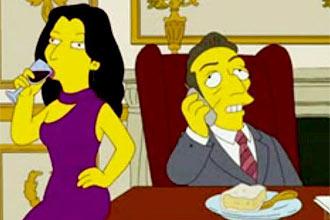 "Carla Bruni e Nicolas Sarkozy participam de episódio do seriado ""Os Simpsons""; casal visita cidade de Springfield"