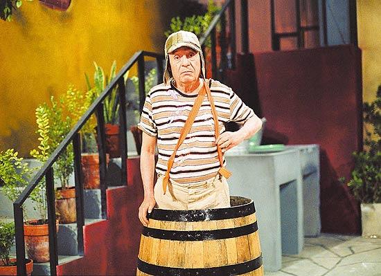 "O ator Roberto Gómes Bolaños, criador e protagonista da série mexicana ""Chaves"""