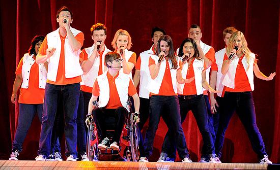 """Elenco do seriado norte-americano """"Glee"""""""