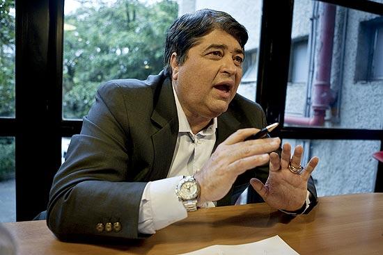 Jose Luiz Datena na TV Bandeirantes no Morumbi
