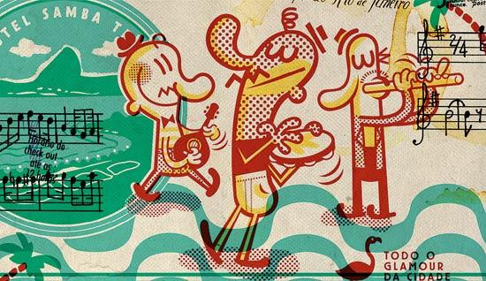 O trabalho de Marcelo Martinez é um dos cem que estarão no Ilustra Brasil!, em Xangai