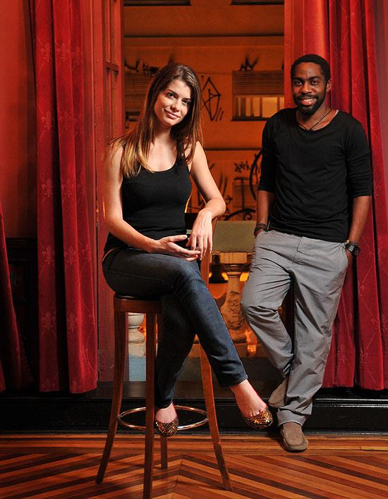 Alinne Moraes e Lázaro Ramos, protagonistas de 'O Vendedor de Passados', em Campinas
