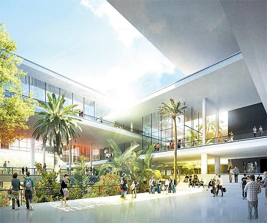 Maquete do complexo cultural luz, que deve começar a ser construído no início de 2013