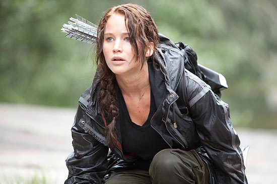 "A personagem Katniss Everdeen, interpretada por Jennifer Lawrence, protagonista do filme ""Jogos Vorazes"""