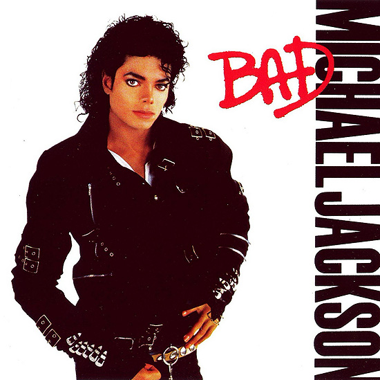 "Capa do disco ""Bad"", de Michael Jackson, que completa 25 anos"