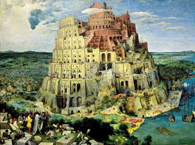 Torre de Babel por Pieter Bruegel (c. 1565)