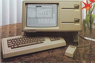 Computador Apple Lisa (foto) popularizou o mouse a partir da década de 80; inventor diz que não recebeu nada da companhia
