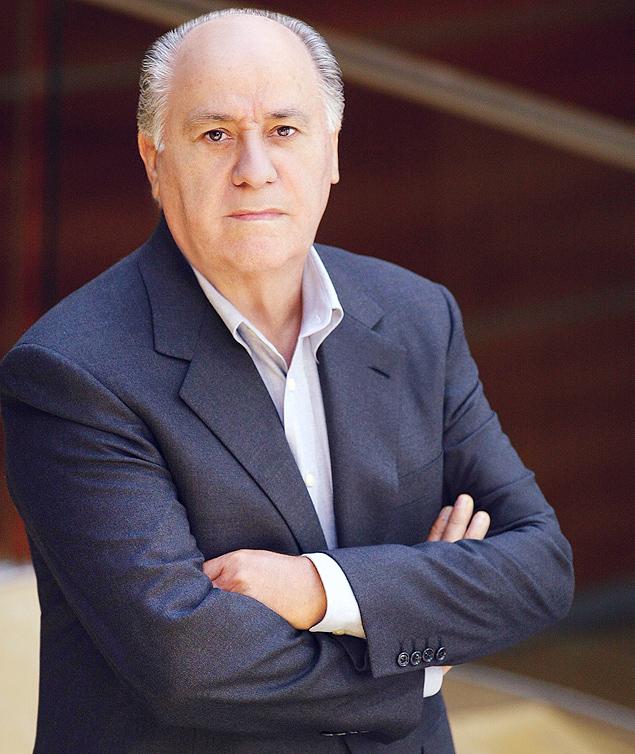 O empresário espanhol Amancio Ortega, do grupo detém a Zara, é o segundo homem mais rico do mundo