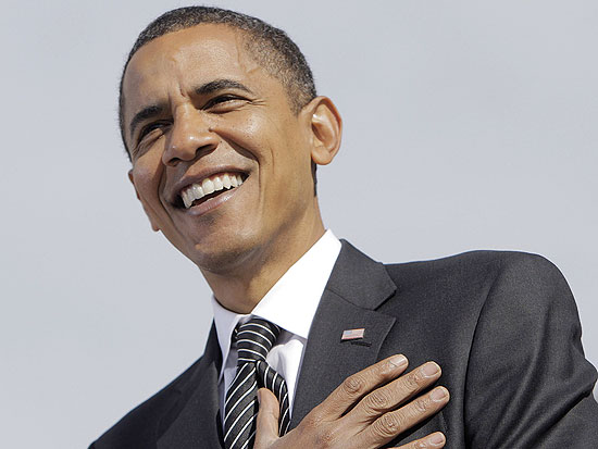 Democratic presidential candidate Sen. Barack Obama, D-Ill., speaks at a rally in Raleigh, N.C., Wednesday, Oct. 29, 2008. (AP Photo/Jae C. Hong)
