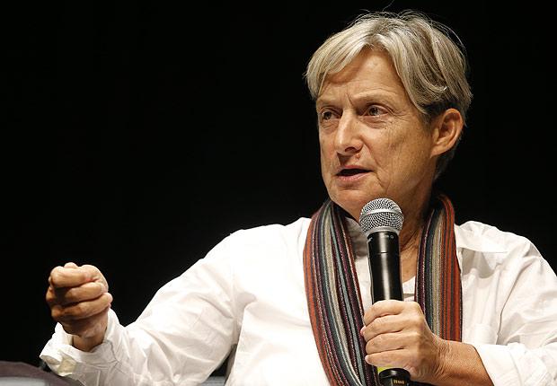 Judith Butler, principal nome no estudo das teorias de gênero, durante seminário Queer, em São Paulo