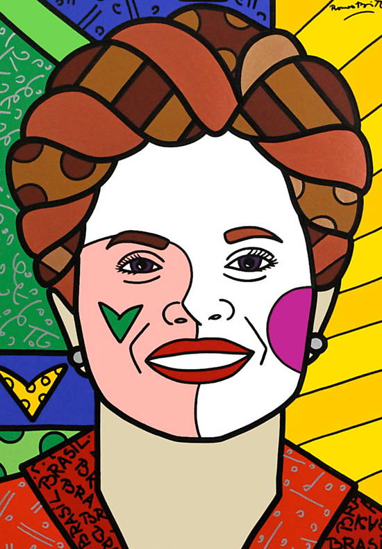 Retrato de Dilma feito pelo artista plástico Romero Britto publicado na 'The New York Times'