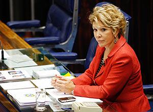 """Depois de chamar a atenção de Suplicy, Marta corrigiu Sarney (PMDB-AP) por usar a expressão """"presidente"""""""