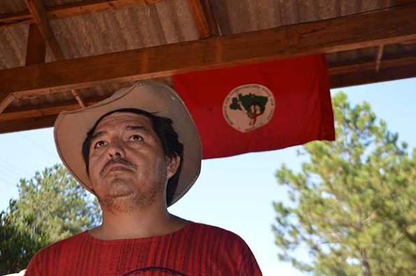 Antonio de MIranda, porta-voz do MST na região do conflito
