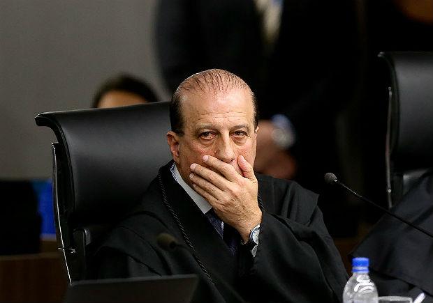 O ministro do TCU Augusto Nardes em sessão do tribunal