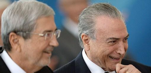 Antônio Imbassahy, da Secretaria de Governo, e Michel Temer