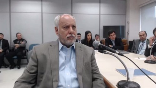 Renato Duque, em audiência com Moro em 5.mai.2017