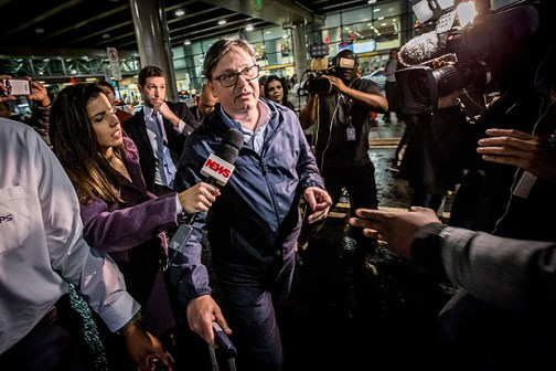 O deputado afastado Rodrigo Rocha Loures (PMDB-PR) chega de Nova York após operação Lava Jato
