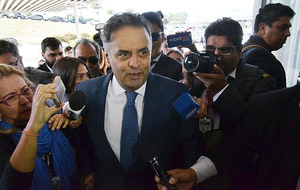 BRASILIA, DF, BRASIL, 04/07/2017,Chegada do Senador Aécio Neves ao Senado Federal ,nesta terça (04) . (Foto: Renato Costa/Folhapress, PODER)