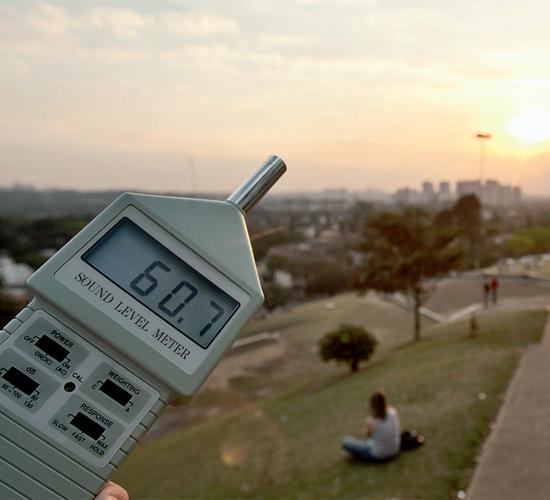 Medição na praça Pôr do Sol, na zona oeste, também traz resultados maiores do que os recomendáveis