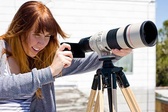 Acessório permite encaixar no iPhone lentes para câmeras SLR (single-lens reflex) da Canon e da Nikon