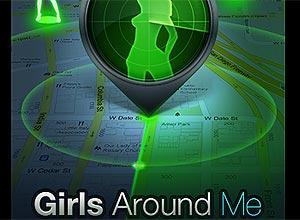 Tela inicial do aplicativo Girls Around Me, que teve acesso revogado pelo Foursquare e foi retirado da App Store