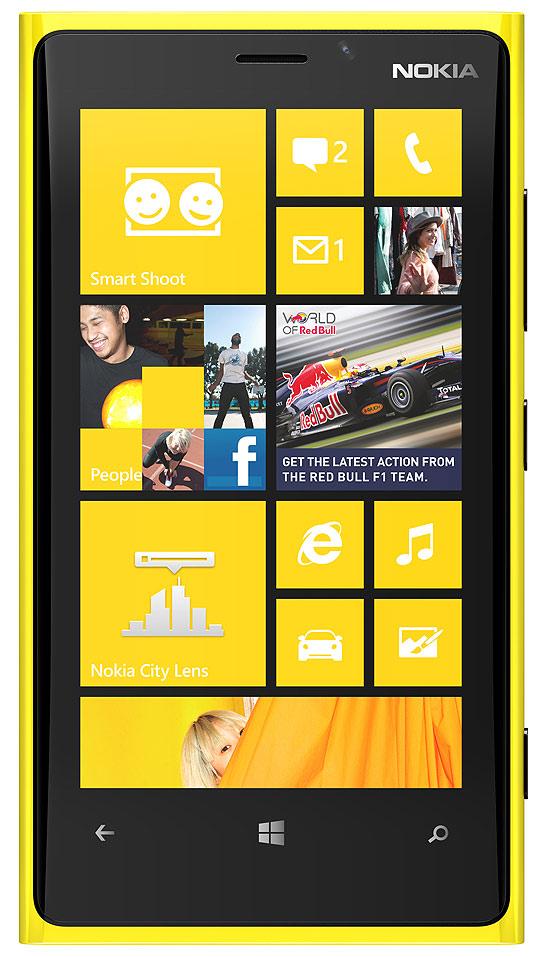 Windows Phone 8, empregado no Nokia Lumia 920 (foto), terá tela inicial dinâmica e personalzável