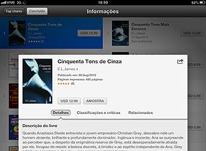 """""""50 Tons de Cinza"""", e-book em português à venda na iBookstore"""