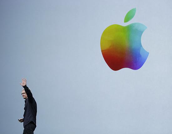 O executivo-chefe da Apple, Tim Cook, em evento da empresa em março