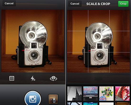 Instagram para iPhone, que ganhou novo design