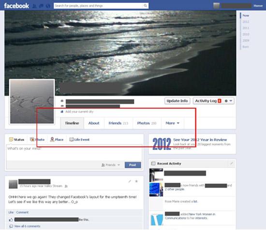 Imagem divulgada por jornalista da ABC News mostra novo design para a Linha do Tempo do Facebook