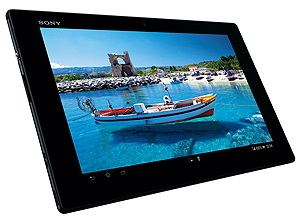 Tablet Xperia Z: tela de 10,1 polegadas, Full HD