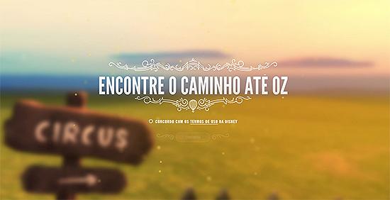 """Google lança game inspirado no filme """"Oz: Mágico e Poderoso"""", disponível em """"[www.findyourwaytooz.com]"""":http://www.findyourwaytooz.com"""