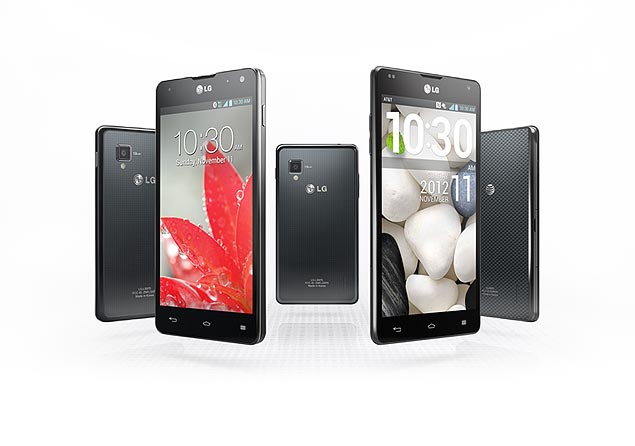 Celular da LG, Optimus G tem tela de 4,7 polegadas com resolução HD (1.280 x 768 pixels), câmera traseira de 8 Mpixels e memória interna de 32 Gbytes