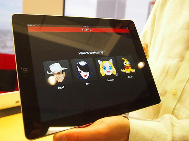 Executivo da Netflix apresenta uma versão da tela inicial dos perfis múltiplos no iPad