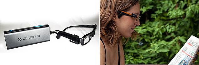 OrCam faz óculos que interpretam texto e o vocalizam para pessoas que não podem enxgergar