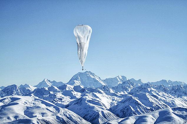 Balão do projeto Loon, do Google, sobrevoa área remota da Nova Zelândia