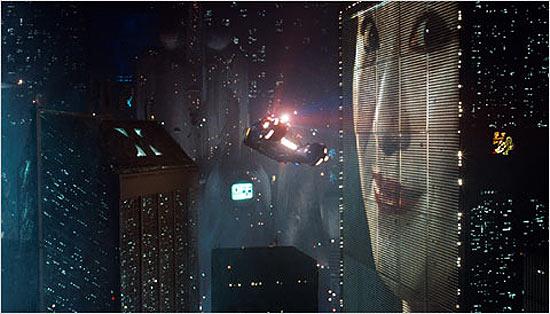 """Cena do filme """"Blade Runner"""", gravado em Los Angeles, Califórnia"""