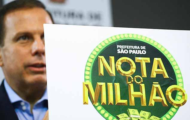 Resultado de imagem para Doria cria Nota do Milhão