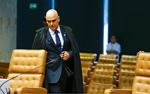 Ministro Alexandre de Moraes durante sessão no plenário para as pautas do Supremo Tribunal Federal
