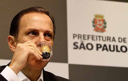 O prefeito João Doria (PSDB) em entrevista coletiva