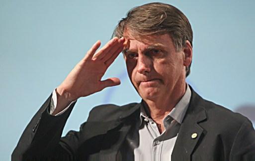 O deputado federal Jair Bolsonaro (PSC-RJ) durante palestra na Fumec, universidade privada de Belo Horizonte (MG)