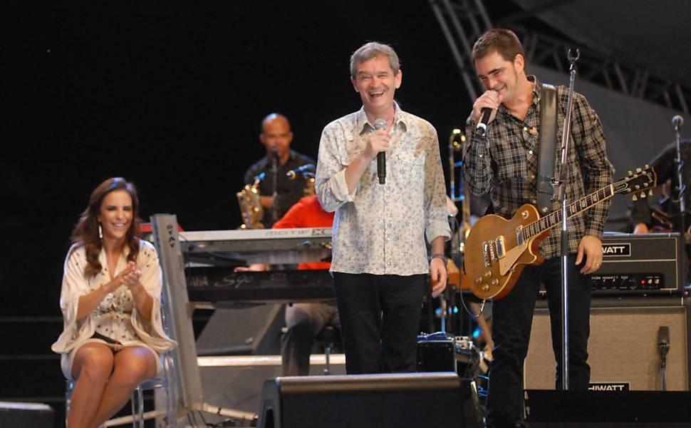 Serginho Groisman com Ivete Sangalo e a banda Skank