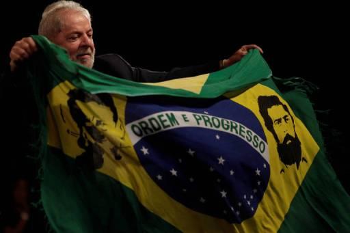 Ato no Rio a favor da candidatura de Lula